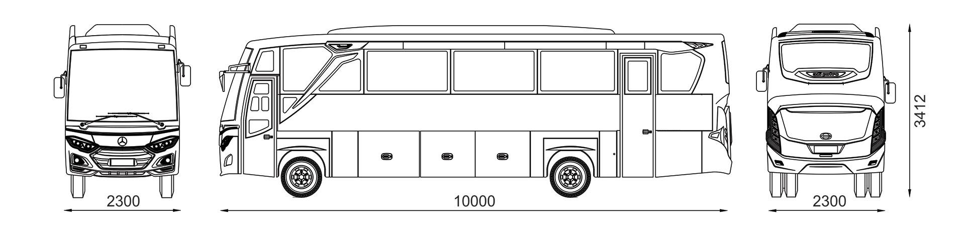 DIMENSI JETBUS 3+ MD 2300